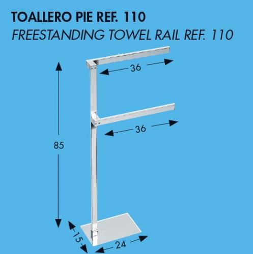 Toallero de pie ba o dise o toallero de pie 110 - Toalleros de pie para bano ...