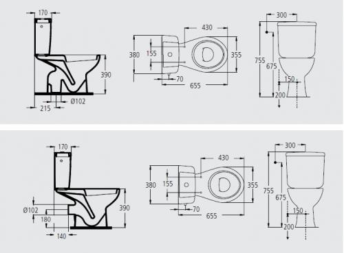 Ecco ideal standard for Medidas de un inodoro
