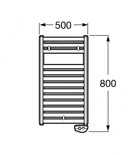 Radiador toallero roca hotel 39 s radiador toallero 80 for Toallero electrico roca