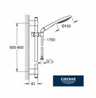 OUTLET GROHE RAINSHOWER SOLO 150