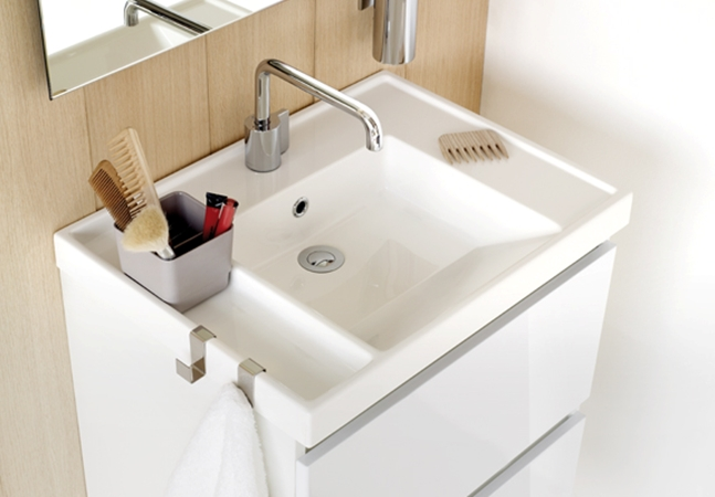 Lavabo Resina Blanco.Bath B Box Mueble 2 Cajones Con Lavabo