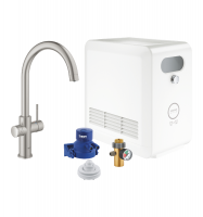 STARTER KIT CAÑO C SUPERSTEEL BLUE PROFESSIONAL GROHE