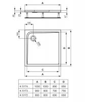 Platos De Ducha Medidas.Ideal Standard Ultra Flat Plato Ducha