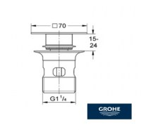 GROHE VALVULA PUSH-UP